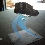 Aufsteller für ein Audi-Getriebe